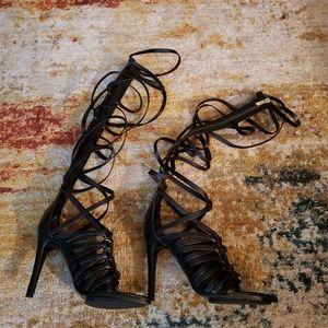 Black Gladiator Heels